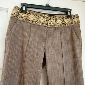 Bebe Embroidered Pants